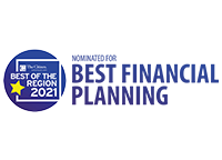 best of the region 2021 - nominated for best financial planning
